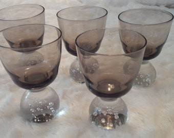 Rare Design Vintage Glass Cordials