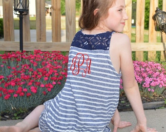 Girls Monogrammed Knit Dress