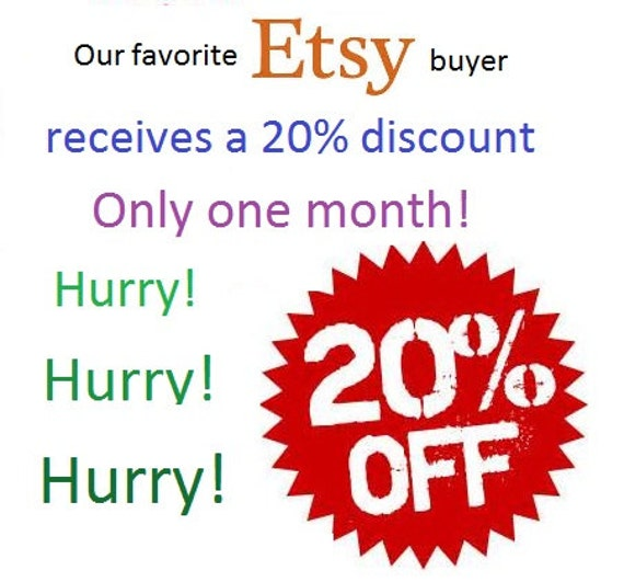 Etsy discount coupon