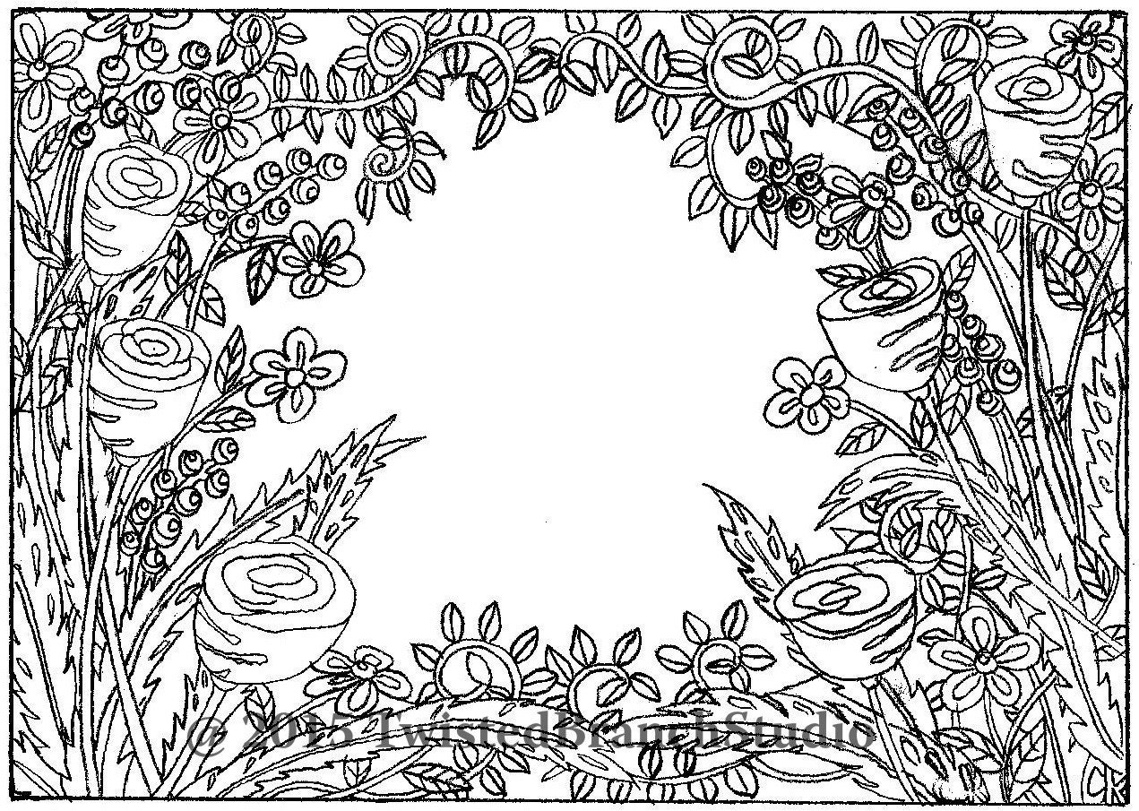 It is an image of Selective Vine Coloring Pages