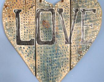 Wooden Love Heart