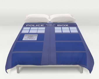 Tardis Duvet Cover / Doctor Who Duvet Cover  / Doctor Who bedroom