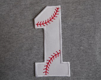 Made to order ~Baseball Number ( Choose A Number) iron on or sew on applique patch