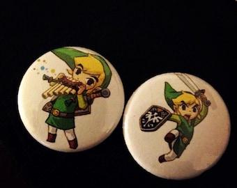 "Zelda pin button set 1"""
