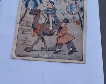Vintage Camel Oh Mister and Mister Sheet Music 1922 Ziegfeld Follies