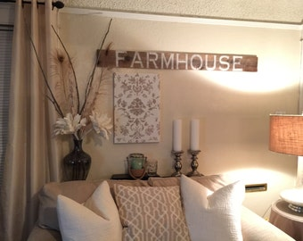 Farmhouse wooden sign, wood sign, vintage signs