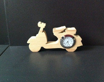 Handmade Free Standing Vesspa Scooter clock