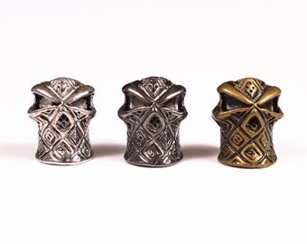 5 x Silver Hooded Ninja Beads Ideal For Paracord Bracelet Or Lanyard