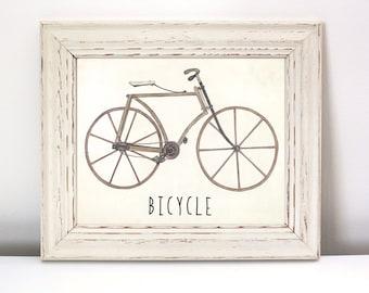 Bicycle Nursery Print - Instant Download, bicycle art, bike art, baby bicycle, nursery bike print