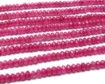China Beads, Beads from China, Beads Wholesalers, Loose Beads Wholesale, Synthetic Faceted Ruby Gemstone Rondelles Bulk Supplies