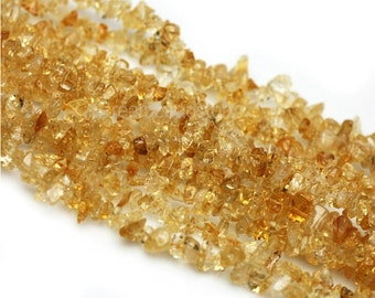 Natural Citrine Chips, Genuine Raw Citrine Chipstone Beads, Gemstone Chips for Jewelry Making, Chip Beads in Bulk Supplies