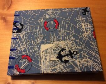 Pocket Nautical Book   Coptic Stitch   Sketchbook   Journal   Notebook