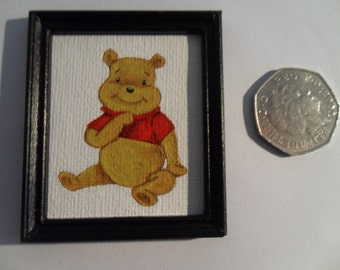 Winne the Pooh Miniature Painting Dolls House
