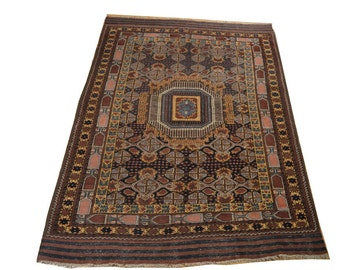 """Antique 1930's Terkaman Rug 100 % Wool Size 4' 10"""" By 6' 7"""""""