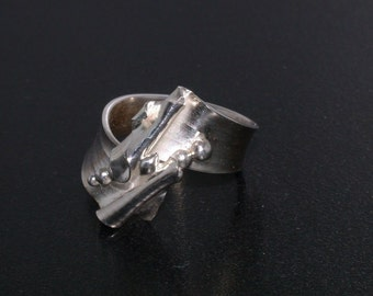 Hand Forged Sterling Silver Ring - Size 6