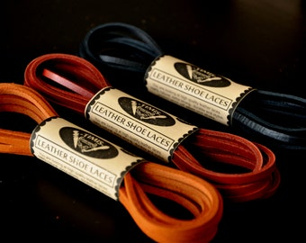 Leather shoe laces