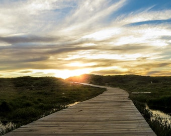 Boardwalk Sunset, Sunset Prints, Home Art, Fine Art Photography, Pictures of Boardwalks, Pictures of Sunset | Boardwalk Sunset