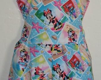 Girls custom boutique Minnie beach Retro jumper