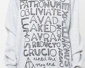 Harry Potter spells shirt women sweater tshirt sweatshirt men shirt jumper long sleeve tee tshirt cute text