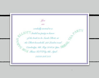 Printable Bridal Tea Party Invitation