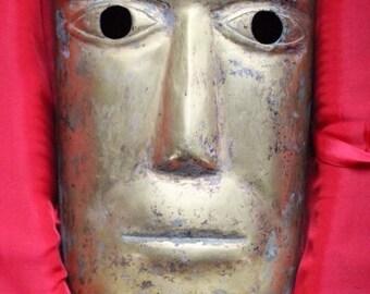 Vintage Bronze Mask