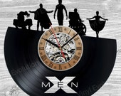 Vinyl clock X marvel men wolverine superhero xmen cosplay comic book costume comic rogue cyclops gmabit logan custom print poster shirt art