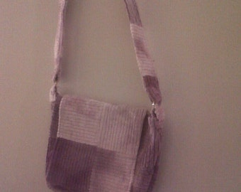 Patchwork Bag in Tie Dyed Purple Corderoy