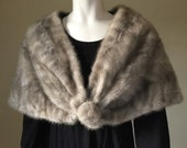 Vintage Mink Stole, Fur Stole, Wedding Fur, Shrug, Bolero, 1950s Style, Retro, Free Shipping