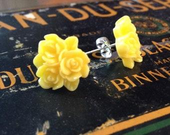 Rose Bouquet Stud Earrings