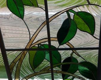 window of leaves