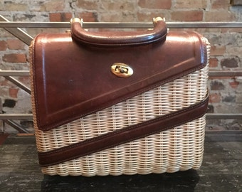 Mid Century basket handbag