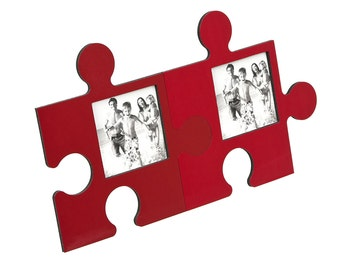 Magnet Photo Frame - PUZZLE RED-BROWN