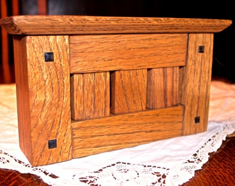 Solid Hardwood Doorbell Chime Cover (Stickley Arts & Crafts Style)