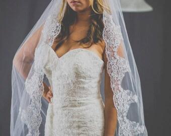 alecon lace, wedding dress veil, with com, high quality