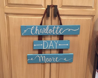 Personalized Name Ribbon Hanger