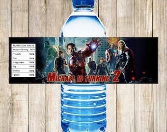 Avengers Water Bottle Labels