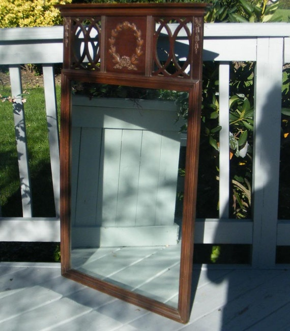 Tall Foyer Mirror : Antique tall mahogany chippendale carved wood foyer