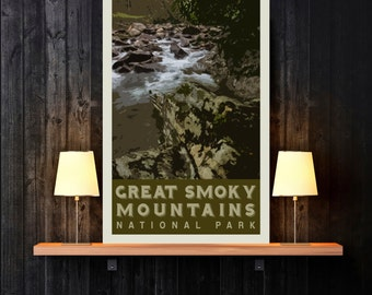 Great Smoky Mountains National Park Print - Tennessee Print - Landscape Print - Photography Print - National Park Print
