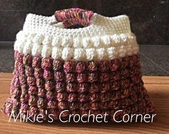 Crochet Bobble Spring Purse Clutch