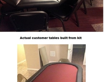 DIY 8' Standard Poker Table Building Kit - 13 Color Choices - Build Your Own Poker Tables