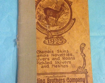 Vintage 1925 chamois leather and fashion catalogue - Drueding Brothers Company