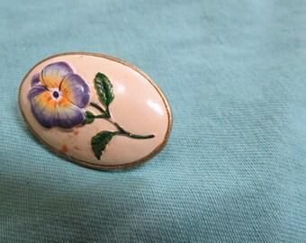 Ceramic Pansie Pin