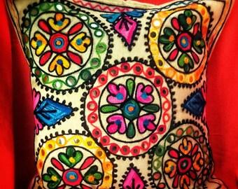 Boho Handmade Throw Pillow