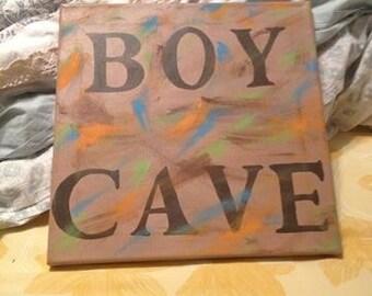 Boy Cave canvas