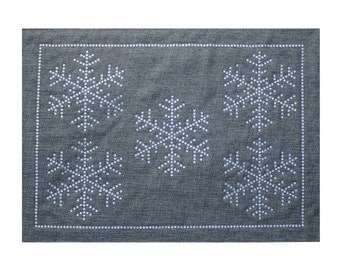 Glittering Rhinestone Winter Snowflake Placemat (Stocked in USA!)