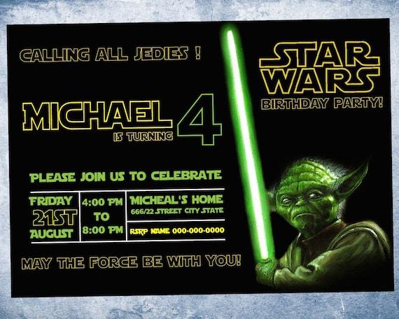 Invitation Anniversaire Star Wars