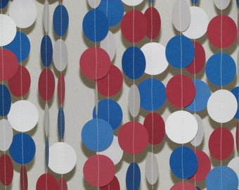 1.5 In. Red, White & Blue Garland