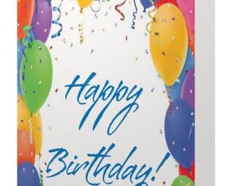 BALLOON BIRTHDAY BASH - Greeting card