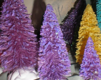 4 in tall lilac purple bottle brush tree