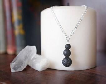 Lava Rock Essential Oil Diffuser Necklace